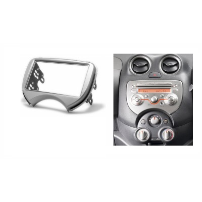 Double din car stereo Frame Circle for Renault Pulse 2011+ and Nissan Micra 2010+