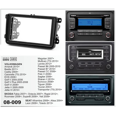 Double Din Stereo Frame for Polo,Jetta EOS,Fabia, Octavia, Rapid, Yati, SuperB