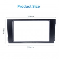 Black Double Din Car Stereo Frame Panel for Audi A6- 2002-2006