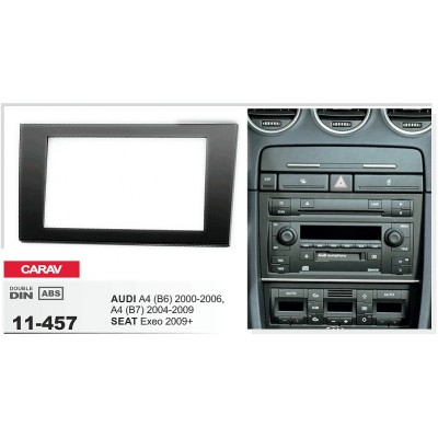 Double Din Car Stereo Frame for Audi A4