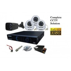 combo with 4  DOME ojo cameras , 16channel dvr ,