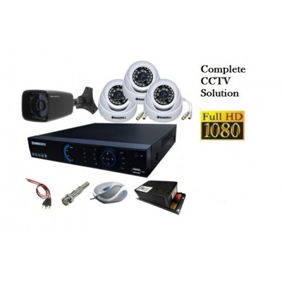 OJO, 2mp Dome camera-5, 8-Channel DVR,8-Channel SMPS,1TB HHD, WIRE BUNDLE, All Connector & installation with 2 year warranty ON PRODUCT