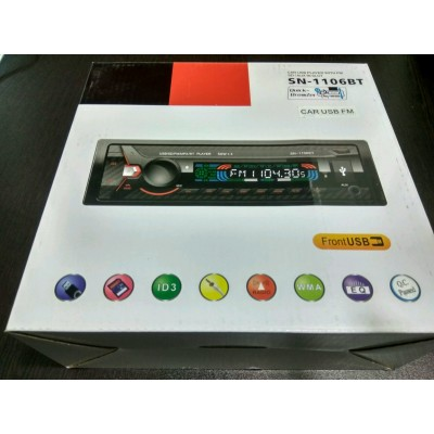 SN Single Din Car Music player with Bluetooth